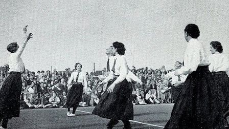 A recreation of a 1900 game at the England Netball 25 year celebrations