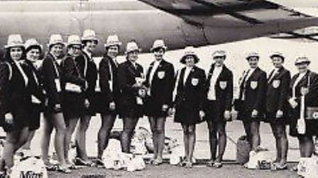 The England team flying out to the 1971 World Championships in Jamaica