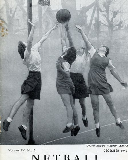 The front cover of an early Netball Magazine cover 1949