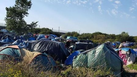 Calais' The Jungle is a sea of tents.