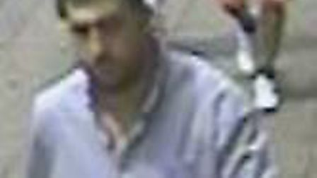 Police wish to speak to this man in relation to a distraction burglary which took place in Letchwort