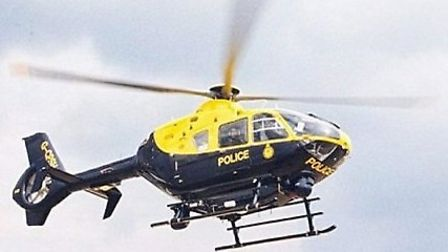 A police helicopter was used to hep hunt for a man who escaped arrest