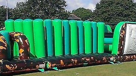 An inflatable obstacle course will spring up in Letchworth town centre on Saturday.