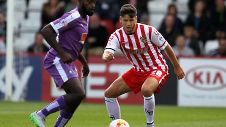 Connor Smith in action for Stevenage