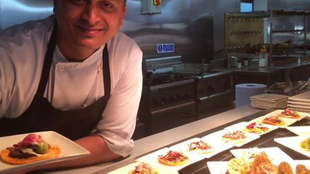A Salt & Good chef shows off some of the food on offer at the Stevenage restaurant.