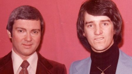 Tommy Carey, right, and Gene Pitney