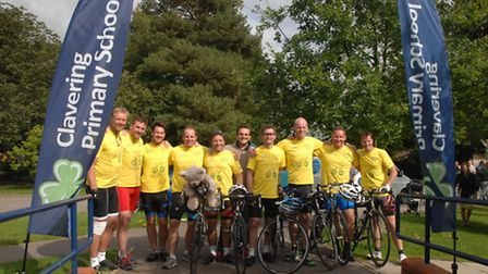 The Clavering to Clavering cycle team