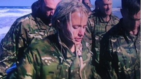 Amy-Jo in training with the Navy Seals on Special Forces - Ultimate Hell Week