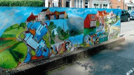 The full mural before it was stolen.