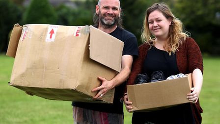 Robert and Chloe Garrod are gathering items needed to help the refugees at Calais.