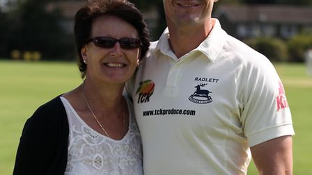 Shane Burger with his mother Elsare. Shane has played for Radlett for 12 years and is going to be a