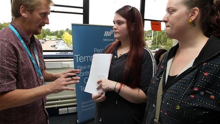 Ashley Myers, from Spectrum talks to Jade Ward and Cassandra Bell