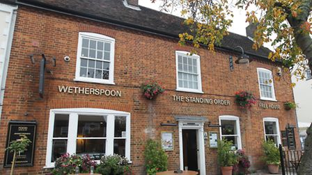 Wetherspoon's Standing Order in Stevenage High Street was temporarily closed last night.