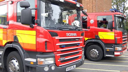 A crew from Stevenage were called to Round Mead.
