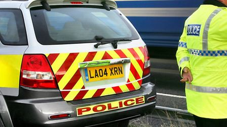 A man has been arrested after police officers brought a car to a stop on the A1(M) near Letchworth G