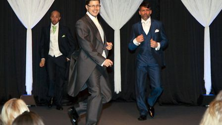 The men strut their stuff on the catwalk during last year's Bride: The Wedding Show