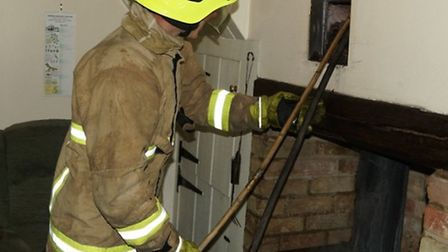 Bedfordshire Fire and Rescue Service have issued a warning after a chimney fire over the weekend.