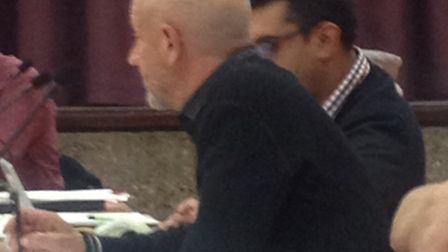 Councillor Chris Gravett didn't answer any questions about his legal expenses on Tuesday night.