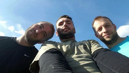 Alex, Stuart and Jason during their successful attempt at the Three Peaks Challenge.