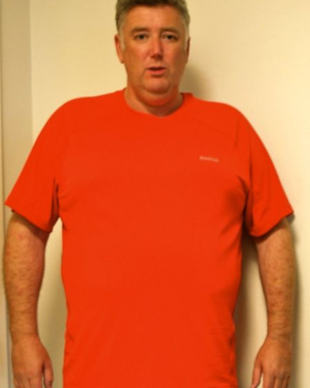 John Walsh before he lost weight and took up running.