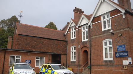 Saffron Walden police station was affected by chemical fumes
