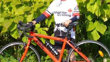 Edward Delville-Jones, who cycled 53 miles for charity