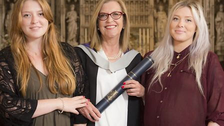 Alison Wenham received an honorary Master's Degree from the University of Hertfordshire in recogniti