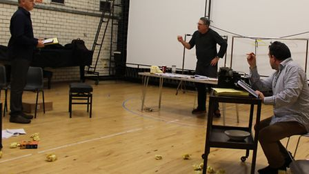 Rehearsals for Moonlight and Magnolias at the Gordon Craig Theatre