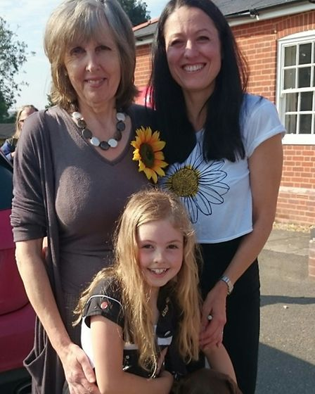 Anne Gibson, left, with daughter Jules and granddaughter Sofia.