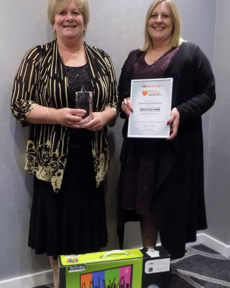 The team at Stevenage Haven won a judge's award and were also presented with a new TV for the staff