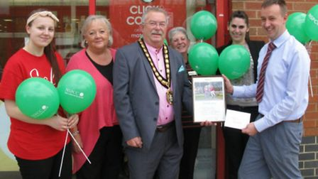 Staff at Matalan in Hitchin have raised £14,500 in a year for the NSCC. They are being congratulated