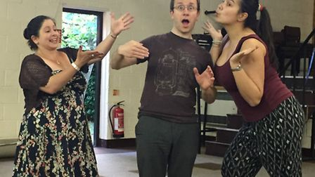 Rehearsals for Hitchin Thespians production of Little Shop Of Horrors