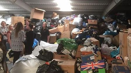 Some of the items collected from the Donation Drop