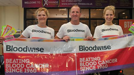 Fundraisers Sue Males, Richard Cowell and Ellie Males are taking part in a sponsored zumbathon