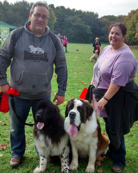 Dog owners from Hertfordshire gathered together on Sunday morning to take part in a 5k charity walk