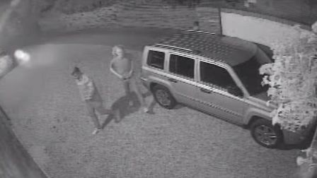 Police are looking to question these two men - who were not involved in the incident in the early ho