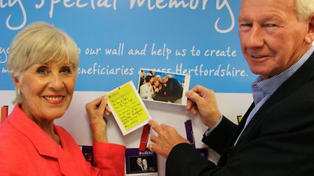 Former Arsenal goalkeeper, Bob Wilson, and his wife Megs, have called on the people of Hertfordshire