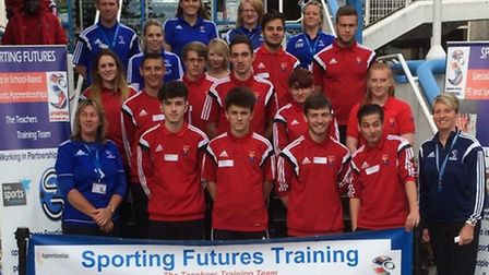 This year's apprentices before they headed off to schools around Stevenage. Credit: @SF_TrainingUK