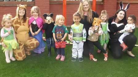 Staff and children dressed up for Roald Dahl day last Friday.