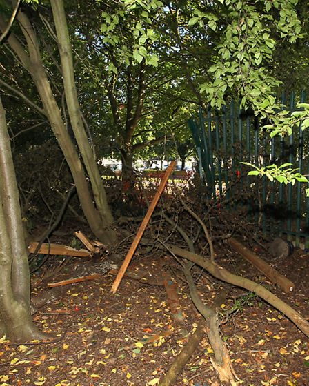 The site where the gate was damaged