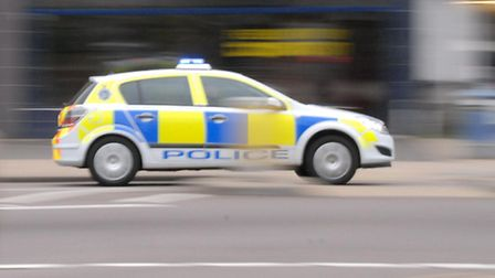 Two women were arrested after a BMW overturned near Hitchin