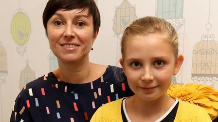Katherine Bridge pictured with her daughter, Alice Bridge who did a sponsored silence is now the fac