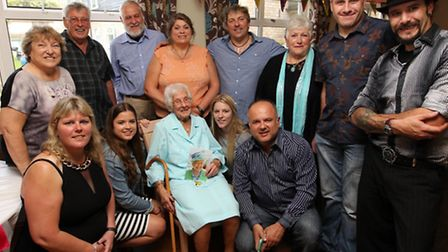Gwen Freeman celebrates her 100th Birthday with family and friends.