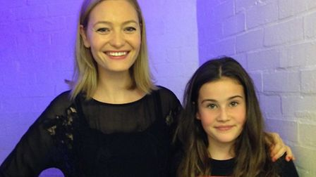 Holly Smale meets Georgia Sutcliffe at Hertford Children's Book Festival