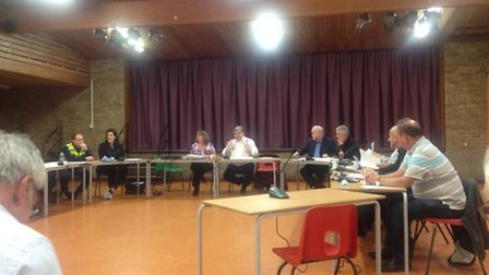 Arlesey Town Council held a meeting in the town on Tuesday, but two councillors have resigned since.