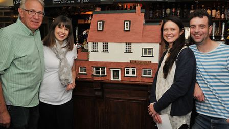 Model owner Tim Farr and daughter Rebecca Chapman (who was given the doll house to play with as a ch