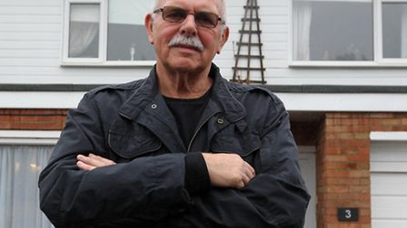 Mike McCrow pictured outside his home in Stevenage