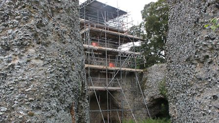 Repairs to Saffron Walden Castle mean it should be removed from the 'at risk' register.