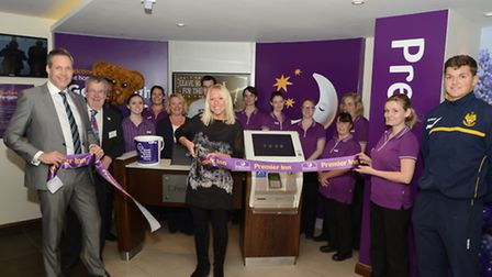 Gail Emms at the new Premier Inn in Hitchin today