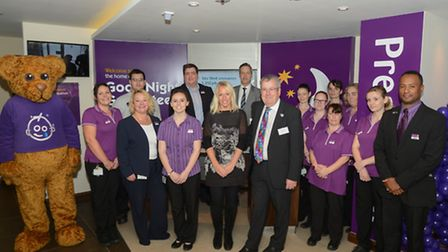 Gail Emms officially opened Hitchin's Premier Inn today